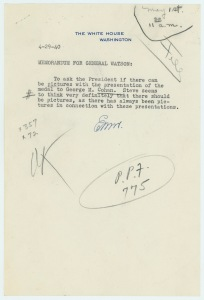 4-29-40, Memorandum for General Watson
