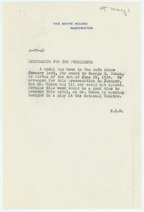 E.M.W to the President, 4-29-40, P.P.775